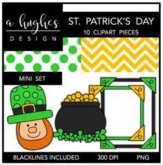 St. Patrick's Day Mini Clipart Bundle {A Hughes Design}