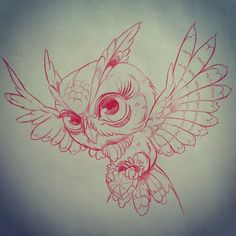 Cute Flying Owl