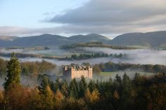 Drumlanrig Castle and the 90,000 acre Queensberry Estate in Dumfries and Galloway, Scotland.