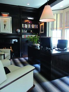 Home Office Decor Inspiration is very important for your home. Whether you choose the Modern Office Design Home or Modern Home Office Design, you will create the best Office Interior Design Ideas Wall Decor for your own life. Modern Home Office, Masculine Home Offices, Cheap Office Furniture, Office Interiors, Home Office Layouts, Office Layout, Contemporary House, Cozy Home Office, Office Design
