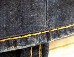 Lately, the trend with jeans has been thick stitches and wear on the bottom of the hem. What happens if the jeans are too long, but you want...