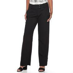 Women's Apt. 9® Curvy Dress Pants, Size: 14 Short, Black