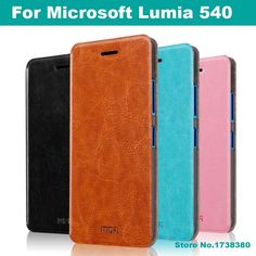 For Microsoft Lumia 540 Case Cover Luxury Leather Flip Phone Cover Protective Case For Microsoft Lumia 540