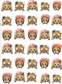 Monkeys with flower head bands