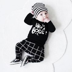Toddler Baby clothes set Boy Outfit Lettering Printed Long Sleeve T-shirt Tops  Pants Set drop shipping