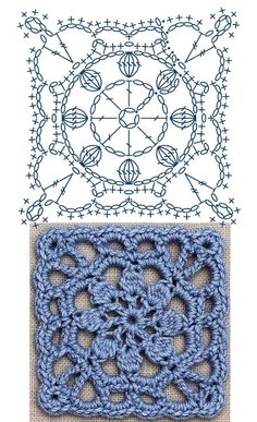 No.30 Dahlia Square Lace Croch - Amigurumi