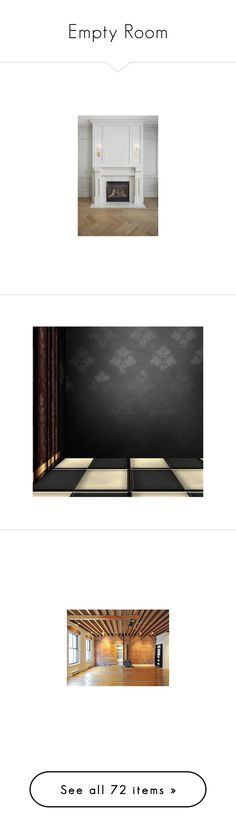 """""""Empty Room"""" by suelb ❤ liked on Polyvore featuring fireplaces, empty room, rooms, backgrounds, empty rooms, floor, interiors, fantasy background, art and wallpaper"""