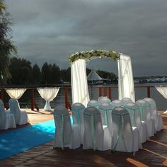 Wedding day. On the lake