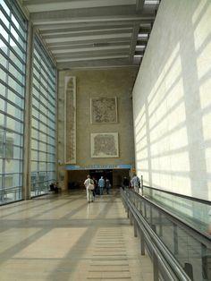 Tel Aviv-Ben Gurion International Airport Terminal 3 -  Skidmore, Owings & Merrill (SOM) / Moshe Safdie & Associates / TRA (2004) - High and Wide Concourses