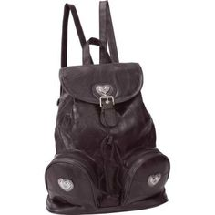 Design Brown Genuine Leather Backpack Purse
