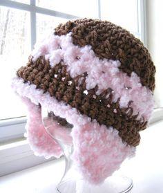 Boy or Girl Crochet Hat Pattern - Easy Gauge as you Go - Digital Download  PDF No. 55 a9bd9cf0eff9
