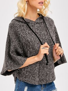 $10.68 Heather Poncho Cape With Hooded