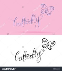 Vector Logo with custom single line lettering and a symbol resembling a Butterfly. All elements neatly placed in well-defined layers. Single Line, Layers, Royalty Free Stock Photos, Butterfly, Symbols, Lettering, Logos, Layering, Logo