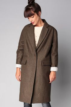 Manteau long kaki Harry  - Sessun 138€