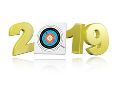 archery target with arrow 2019 design with a white background new year background images background