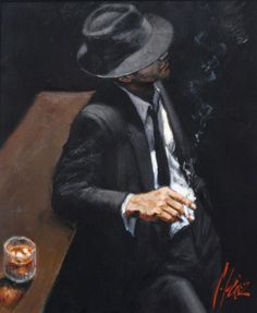 Artist Fabian Perez expresses his love for the female form through some of the most romantic and sensual impressionist paintings you will find anywhere. Fabian Perez, Black Suits, Black Men, Illustration Photo, Panel Wall Art, Contemporary Wall Art, Foto Pose, Gangsters, Living Room Art