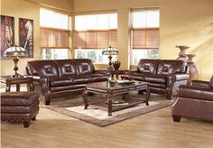 Shop for a Capital City 5 Pc Leather Living Room at Rooms To Go. Find Living Room Sets that will look great in your home and complement the rest of your furniture.