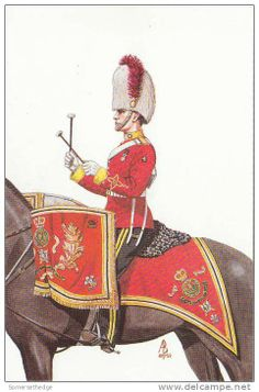 The Kettledrummer of the Royal Scots Dragoon Guards 1987 by Alix Baker