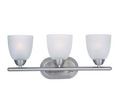 Maxim Lighting 11313FTSN Axis 3-Light Bath Vanity in Satin Nickel Finish in Wall Lights, Bath Lights: LeeLighting.com