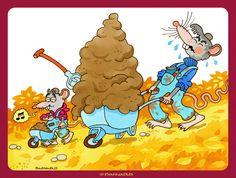 © Barnabus - Magazine Miś - #Szczurki i #taczki ▪ The #rats and the #wheelbarrows.