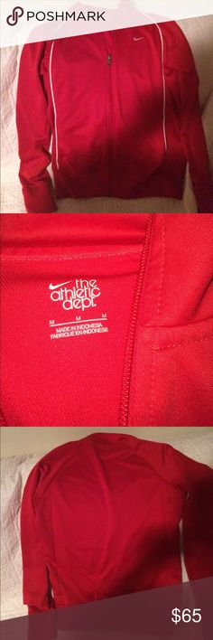 Nike athletic sweater Mike red athletic sweater Nike Jackets & Coats Blazers