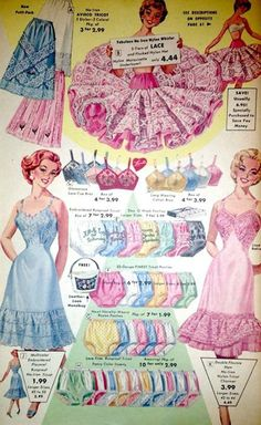 1950s Full Slips Panties and Crinolines Ad