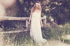 A-Line : Bohemian Style Wedding Dresses - Bohemian Bride Beach Strapless and Off-the-shoulder Lace Wedding Gown boho chic dresses, bohemian ...