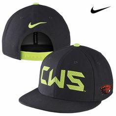 OREGON STATE BEAVERS NIKE 2013 CWS BASEBALL TRUE SNAPBACK TEAM CAP - BLACK