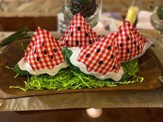 Watermelon Bowl, Watermelon Crafts, Watermelon Patch, Paper Mache Crafts, Fabric Crafts, Cute Crafts, Diy Crafts, Dough Bowl, Bowl Fillers