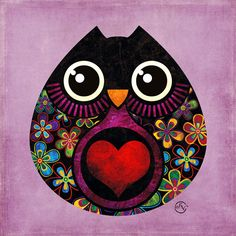 Owl Art.... So Cute!