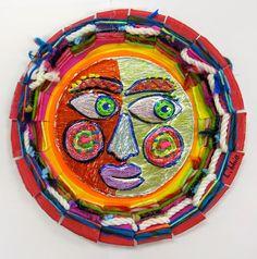 Cassie Stephens: In the Art Room: Mexican Sun/Moon Weavings
