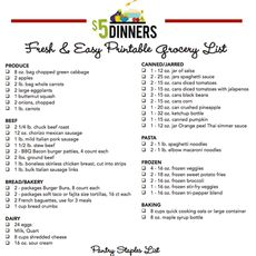 20 Fresh & Easy Freezer Meals for $150 - FREE Printable Recipes, Shopping List & Batch Cooking Plan