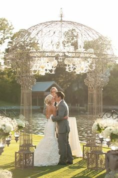Ornate Wedding Ceremony Arch. Elegant enough to be left bare or capable of being enhanced.