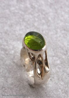 One of my first rings Early Spring - silver+peridot