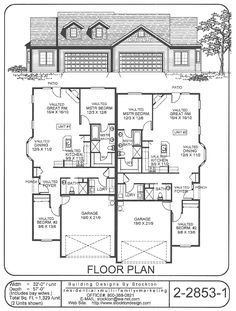 plan 69391am duplex with slightly smaller second unit pinterest
