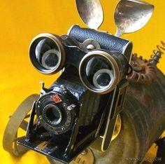 ¡Perro robot con cámara incorporada! #inspiración #arte #reciclaje