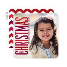 Chic Colors Photo Holiday Cards