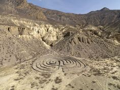 Labyrinth in Nepal by land artist Andrew Rogers