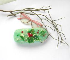 Felt Eyesglass Case Felted Wool Glasses Cases  Christmas gift for her OOAK Eco-Friendly Best gift for mother