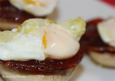 Champiñones con huevo y chorizo