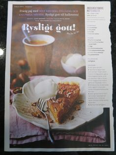 Full page image with 1 column recipe text Layout Design, Image, Ideas, Sentences, Page Layout, Thoughts