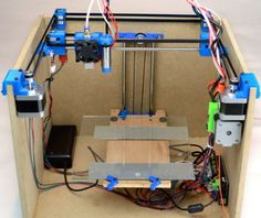 SmartrapCore is a low-cost, open-source 3D printer inside a wooden box. #Atmel #3DPrinting #RepRap #OpenSource #3DPrinter #Arduino