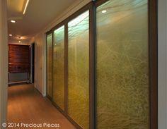 和紙ラミネートガラス/スライドドア施工事例