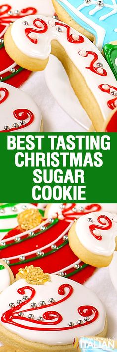 Christmas sugar cookies (also known as cut out cookies) are a family tradition., Christmas sugar cookies (also known as cut out cookies) are a family tradition. This perfectly developed dough stays put and tastes amazing! Brownie Cookies, Cookie Desserts, Holiday Desserts, Holiday Recipes, Cookie Recipes, Christmas Recipes, Cake Cookies, Sugar Cookie Recipe For Decorating, Cake Decorating