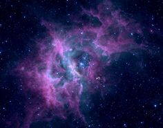 purple and blue nebula