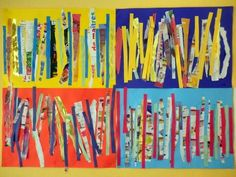 Games For Kids, Art For Kids, Trait Vertical, Scissor Skills, Ecole Art, Reggio Emilia, Art Plastique, Decoupage, Kindergarten