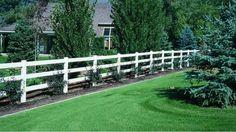 Vinyl Ranch Rail Fencing