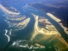 Vue du ciel Bassin d'Arcachon . France City, France Europe, France Travel, Bordeaux, Cap Ferret, Us Beaches, Europe Travel Tips, Most Visited, Aerial View