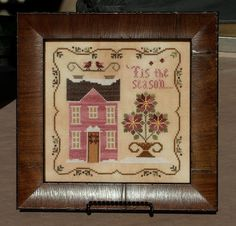 Willow Tree Stitcher- Poinsettia House...love the words.