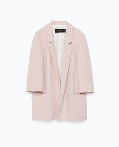 Designer Clothes, Shoes & Bags for Women Zara Jackets, Long Jackets, Jackets For Women, Outerwear Jackets, Long Blazer Jacket, Pink Jacket, Simple Wardrobe, Zara Blazer, Shopping